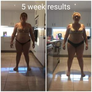 Cassie (Kawana): ''it sounded too good to be true, but I look and feel wonderful!'' - 5 week EMS fitness results 1